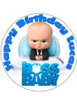 7.5 Boss Baby Personalised Edible Icing or Wafer Cake Top Topper